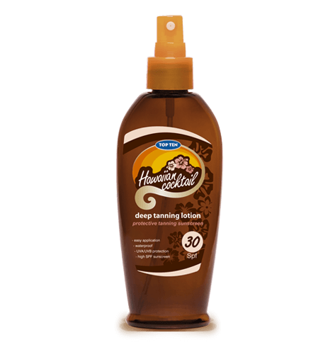 Top Ten Hawaiian Cocktail Deep Tanning Lotion